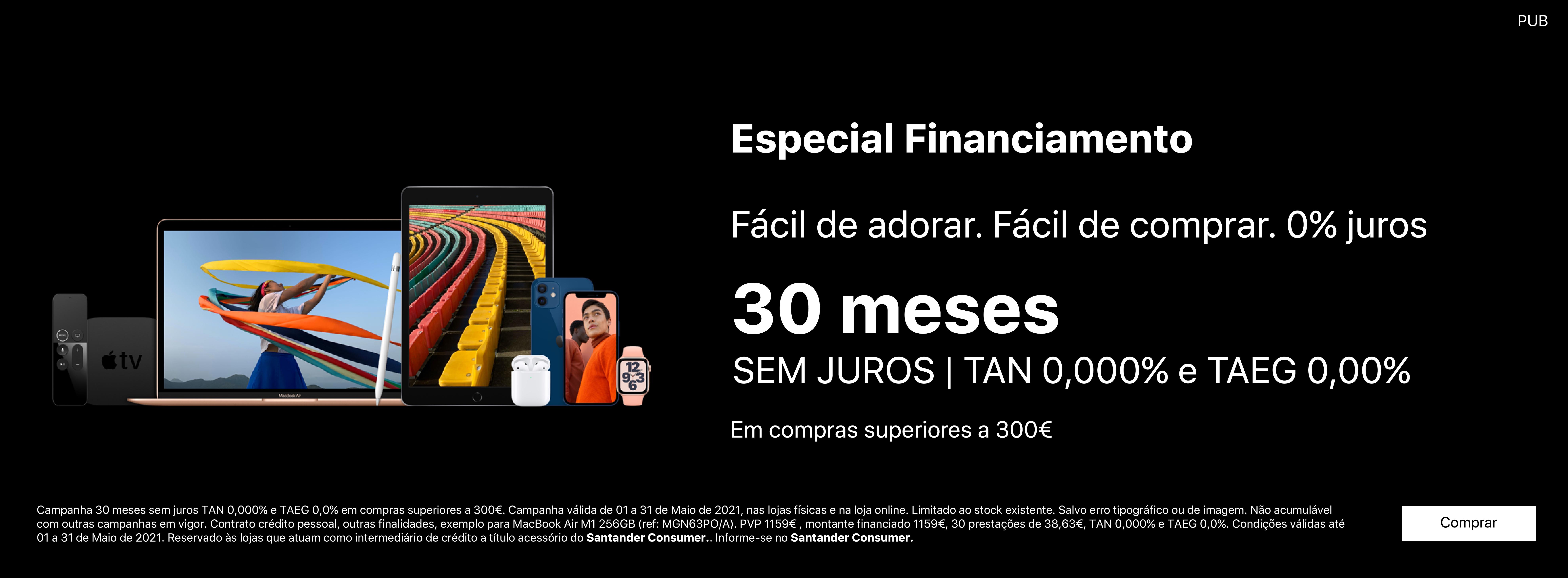 Homepage Slideshow - Financiamento 30x Maio