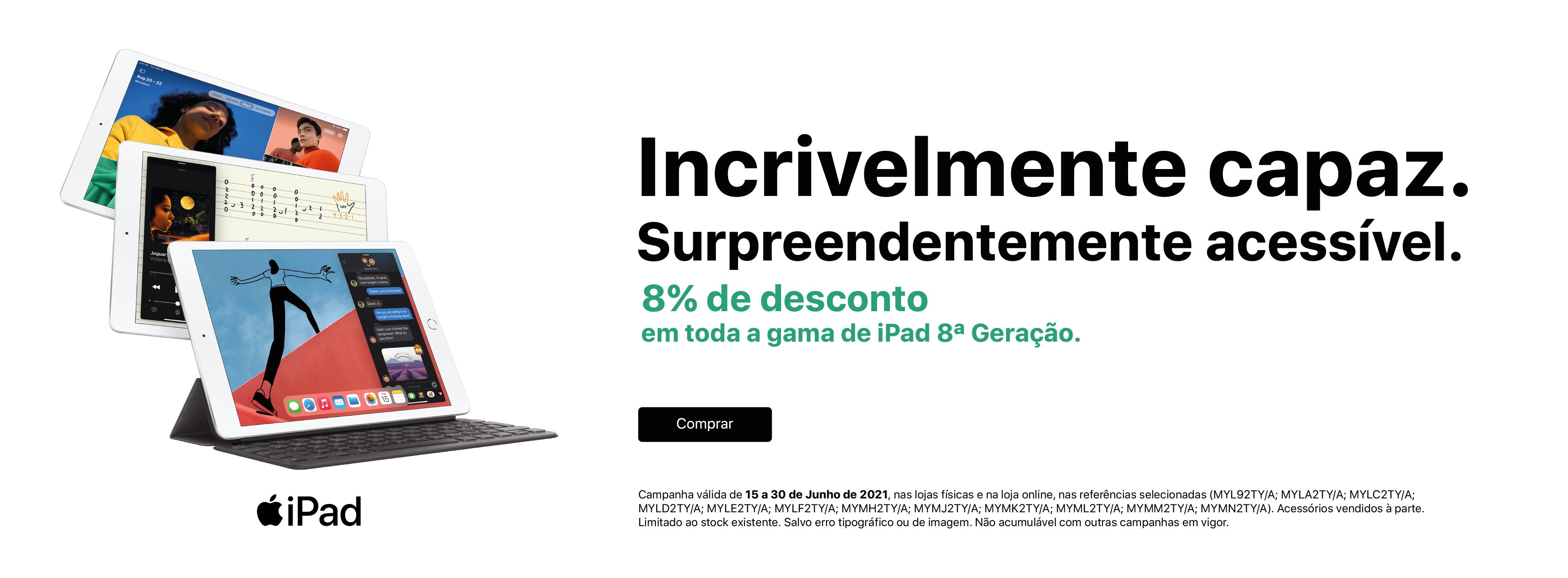 iPad 8 Geração com 8% desconto