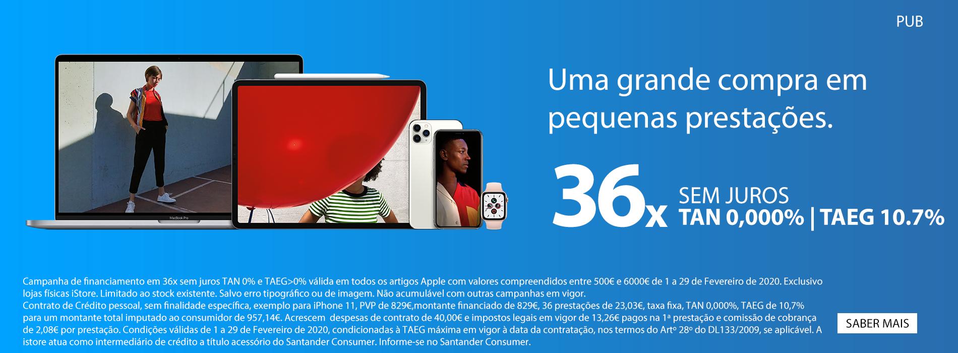 Homepage Slideshow - Financiamento 36x