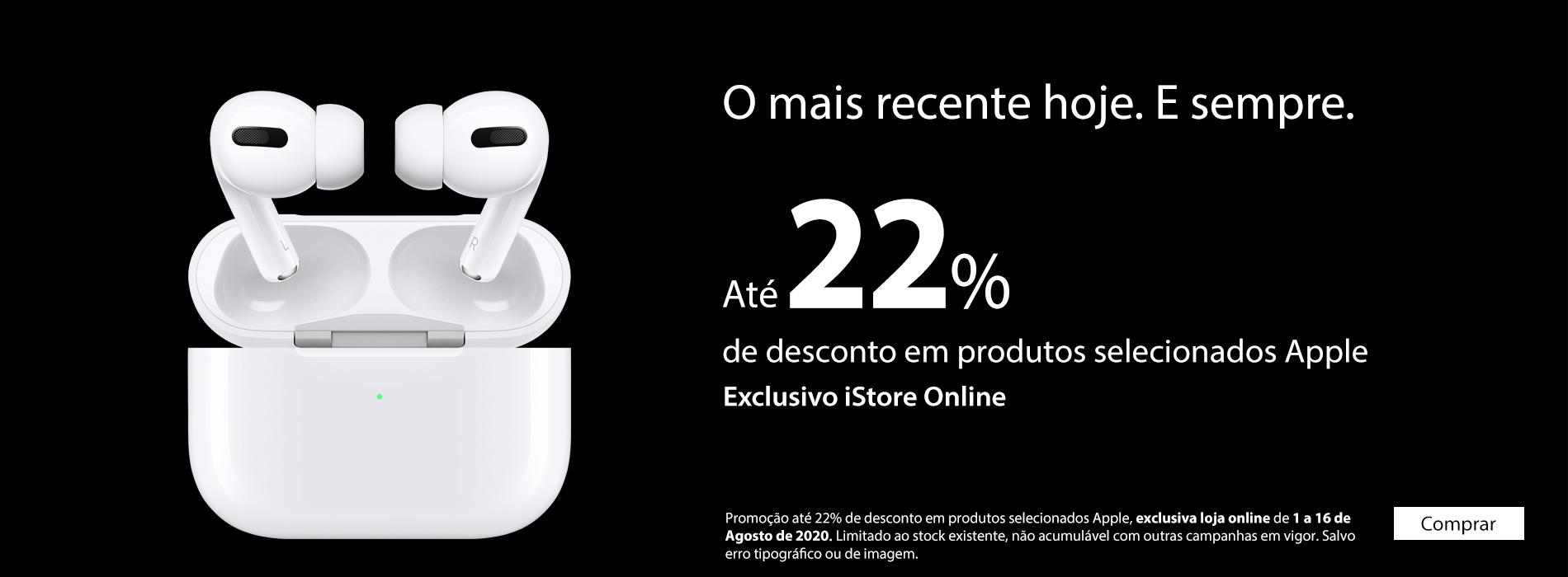 Homepage Slideshow - Descontos Até 22% em Produtos Selecionados Apple